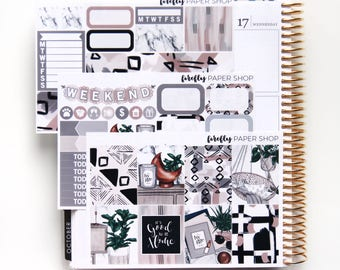 Home MINI Weekly Kit (stickers for Erin Condren Life Planner - Vertical)