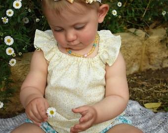 Swing Top - Ivory Garden Flutter Sleeve - Butterflies and Blooms Summer Collection