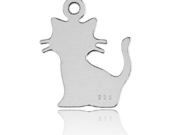 Charm Cat  Silver 925