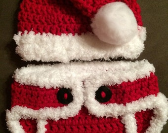 Baby Santa Hat and Diaper Cover