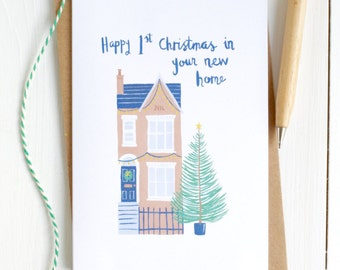 First Christmas in your New Home Card - New Home Christmas Card - New Home Card - First Christmas Card - Housewarming Card - Happy New Home