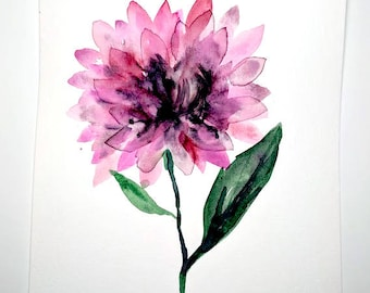 No. 20 Original 6x9 watercolor floral painting