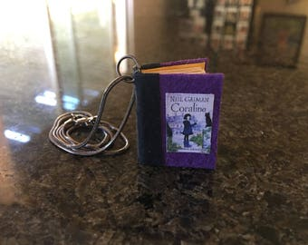 Book Necklace- Coraline