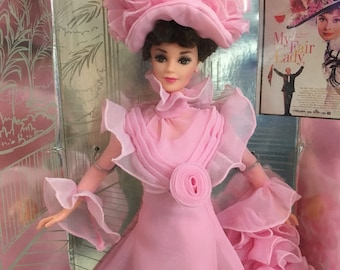 Barbie as Eliza Doolittle Holywood Legends Collection Collectors Edition 1995 My Fair Lady Pink gown final scene