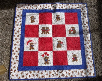 QUILTED BABY BLANKET 100% cotton material