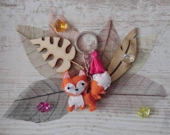 Plush Fox ~ Fox Keychain ~ felt ~ Fox ~ Keychain ~ Fox