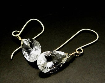 DIAMONDS ARE FOREVER ~ Bold Rock Quartz, 14kt Gold Fill Earrings