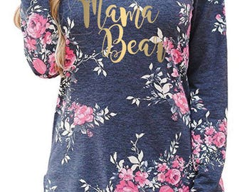 Ladies 'Mama Bear' Long Sleeve T-shirt