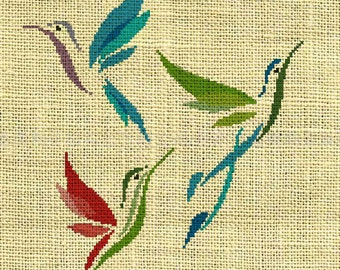 Bird/Hummingbird/trochilidae Counted Cross Stitch Pattern