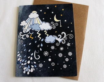 In all kinds of weather card - blank card