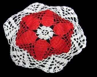 """Mexican handmade doilies, crochet set of 6, 9-1/2"""""""