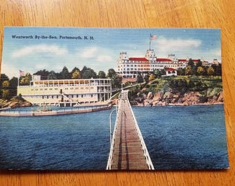 Vintage Linen Postcard Wentworth By The Sea Hotel Portsmouth NH
