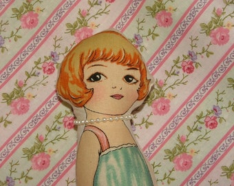 Cloth Paper Doll Sally Roxanne