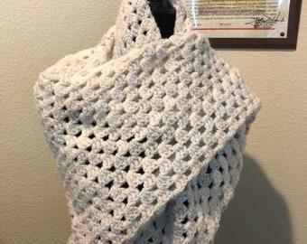Classic Granny Crochet Triangle Shawl