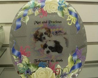 Customized Keepsake Photo and Handpainted Mirror