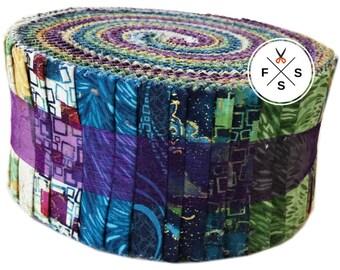"Benartex Here Comes The Sun Pinwheel 2.5"" Precut Fabric Quilting Cotton Strips Jelly Roll Ann Lauer PWHCSPK"
