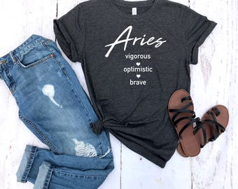 aries shirt, aries astrological sign shirt, aries sign shirt, aries birthday gift, gift idea, birthday gift, personalized gift, gift for her