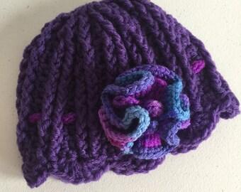 6-12 month old flower hat