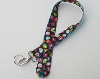 Owl Lanyard Keychains for Women, Cool Lanyards for Keys, Id Badge Holder Necklace Lanyards, Cute Lanyards for Badges, Lanyard with Owls