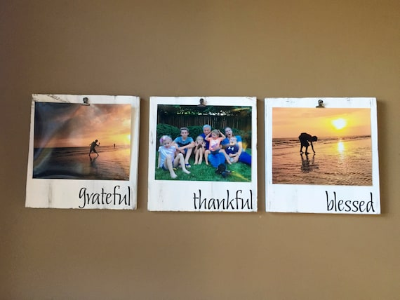 Grateful Thankful Blessed - Picture Frame Set - Picture Frame ...