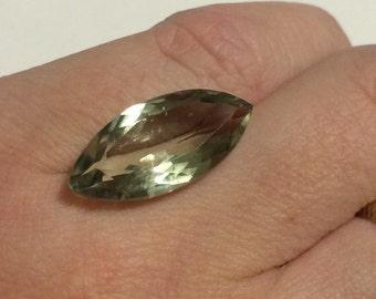 9.5 ct Green Marquise Cut Prasiolite 21.7x10.3mm gemstone.