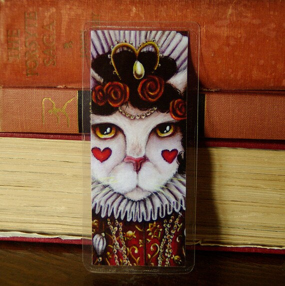 Queen of Hearts Cat Alice in Wonderland Bookmark