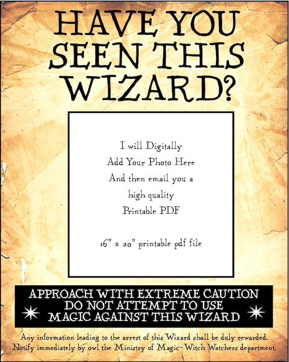 Have You Seen This Wizard Wizards 16 X 20 Inch Digital Pdf