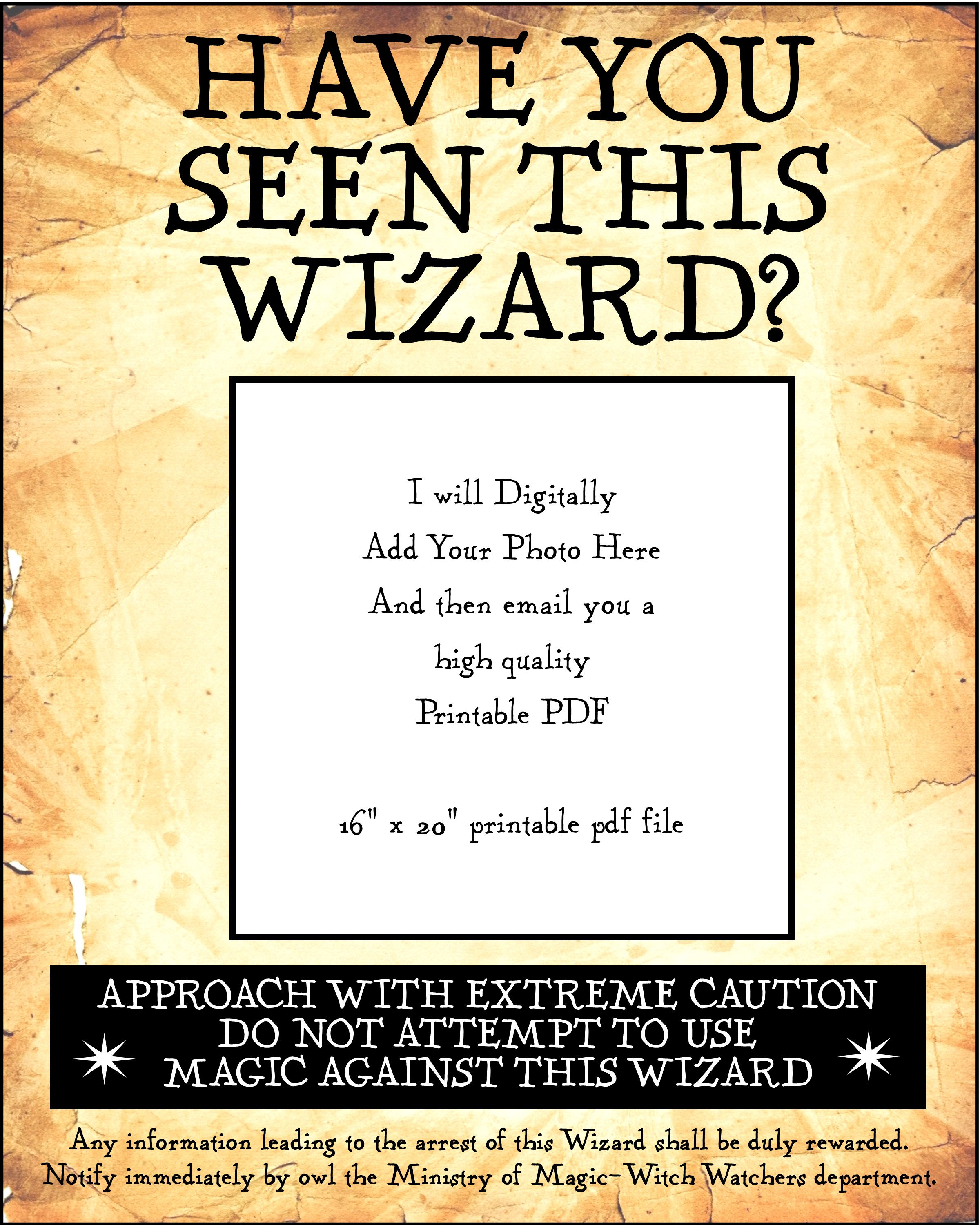 Have You Got Blue Eyes Learn What Make Up Will Make Them: Have You Seen This Wizard/Wizards 16 X 20 Inch Digital PDF