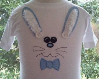Boys Bunny Shirt. Boys Easter Shirt. Baby-Toddler-Boys Easter Shirt size 12mo, 18mo, 2 and 4. Boy Easter Shirt.