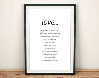 Love Poster, Love Print, Love Quote, Love Wall Art, Love Decor, Anniversary Gift, Valentine's Day Gift, Black and White, Instant Download