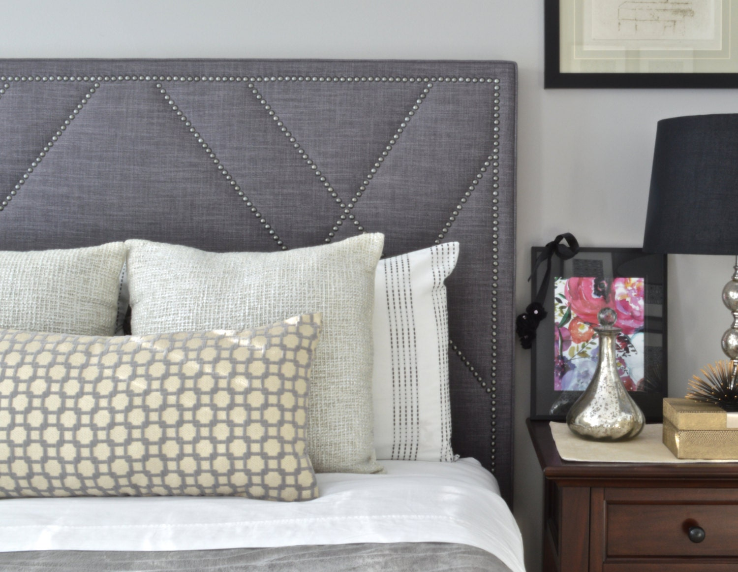 headboard queen lily com at linen gray lowes headboards shop upholstered pd modway