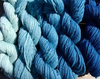 Naturally dyed mini skeins