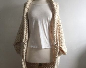READY TO SHIP - Drapey chunky crochet sweater