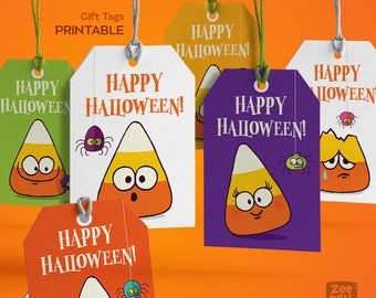 Halloween Gift Tags, Halloween Favor tags, Halloween Favour Tags, Halloween Tags, Candy corn, Halloween, Instant Download,  Printable
