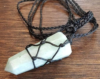 Amazonite adjustable wrap necklace.
