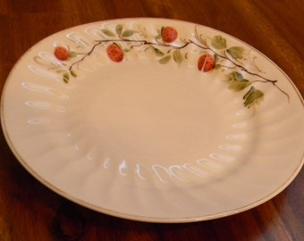 Adorable Vintage Plate with Painted Strawberries