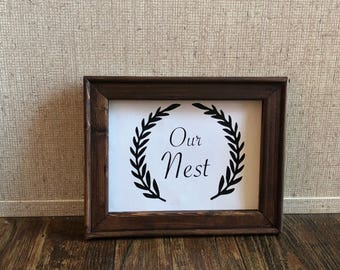 Our Nest- Family wall decor- canvas wall art- housewarming gift- gifts for her-farmhouse decor