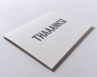 THAAANKS! | handmade glitter typography thank you card!