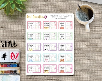 Planner Stickers Planning Time Plan With Me Stickers
