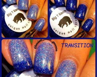 FREE U.S. SHIPPING - Color Changing Nail Polish - Blue Mood Nail Polish - IGLOO - Temperature Changing - 0.5 oz Full Sized Bottle