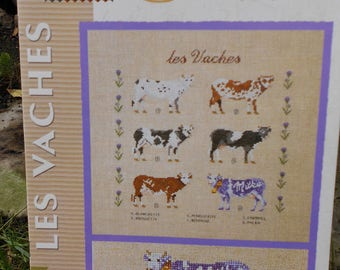 """Cows"" cross stitch leaflet"