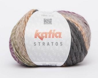 STRATOS - Katia 150 orange lilac color yarn