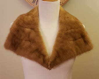 Vintage Fur Collar/Reddish Brown Fur Collar