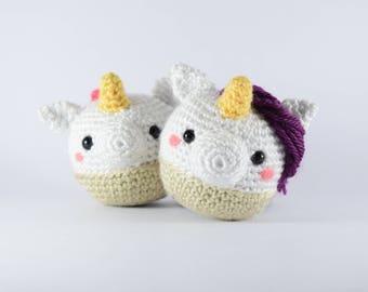 Unicorn Cupcake Amigurumi PATTERN