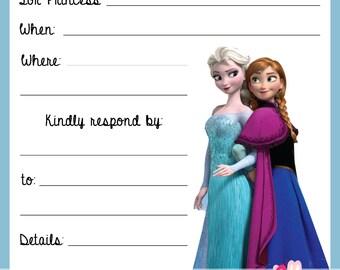Disney Frozen Birthday Party Invitations