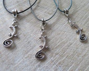 Lizard or gecko necklace