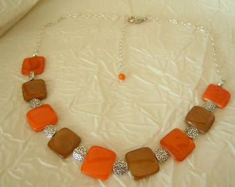 Necklace with pearl beads / gift women / handmade jewelry