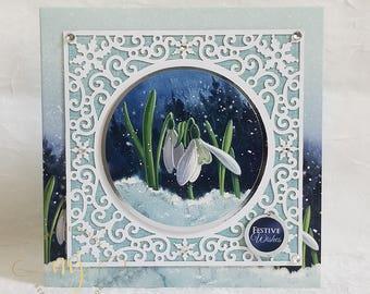 Christmas Card; Holiday Card; Handmade Card; 3D Card; Santa Claus; Bethlehem