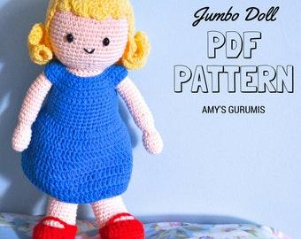 Amigurumi Pattern Jumbo Doll