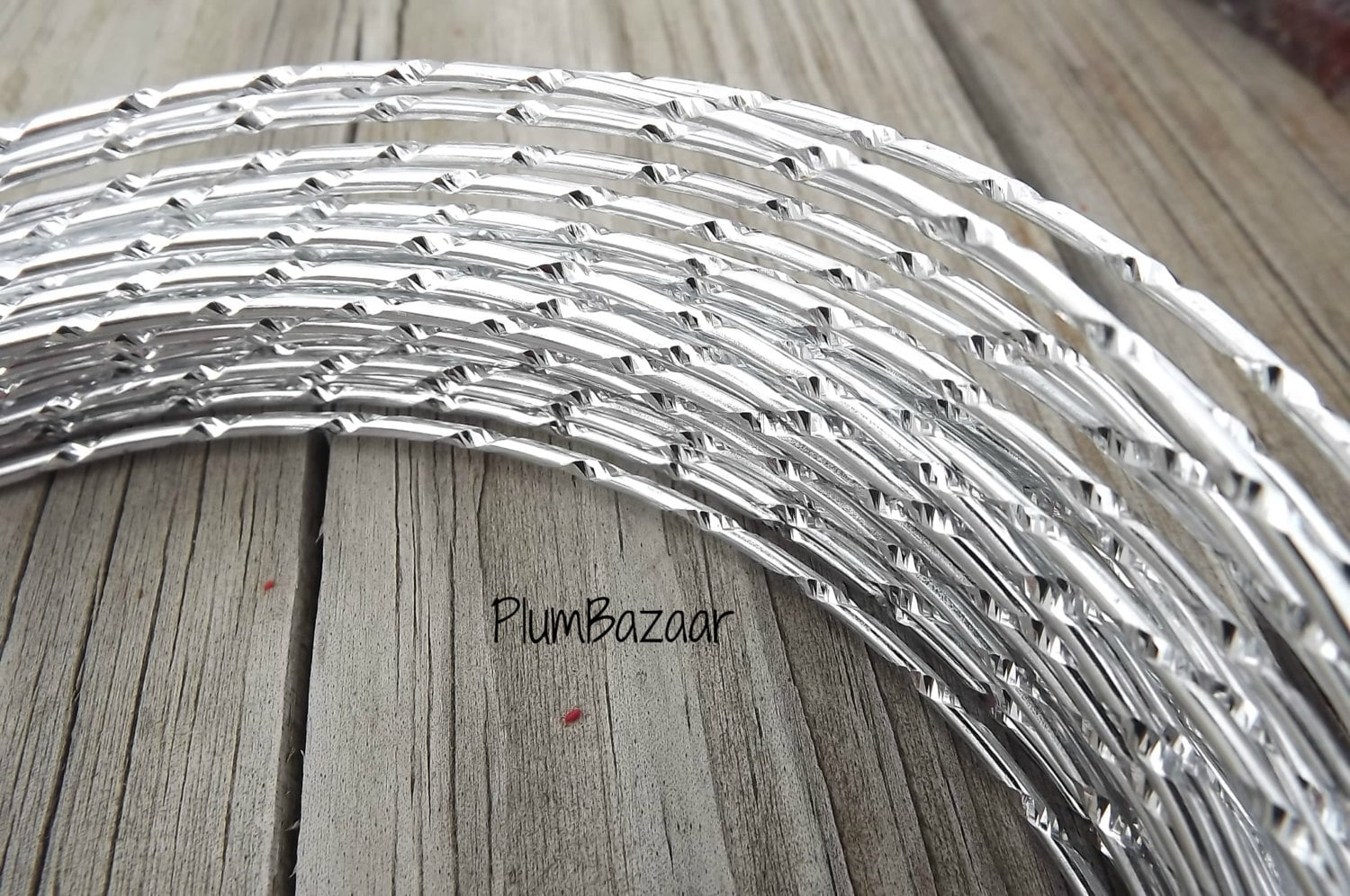 Aluminum wire for jewelry and crafts 2mm round diamond cut
